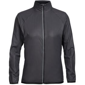 Icebreaker Rush Windbreaker Jacket Women black/embossed